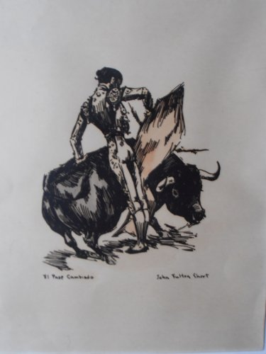 John Fulton Short A Set Of Six Bullfighting Prints With